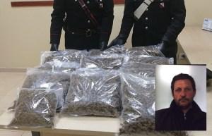 Fermato per eccesso di velocità in auto aveva 11 kg di marijuana, arrestato