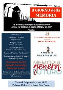 """Serra San Bruno – A palazzo Chimirri l'iniziativa in occasione della """"Giornata della Memoria"""""""