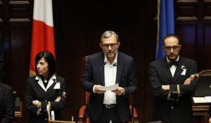 Montecitorio. Giachetti senza cravatta all'elezione di Fico