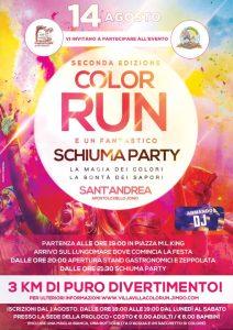 Il 14 Agosto a Sant'Andrea Apostolo dello Ionio la seconda edizione della Color Run e lo Schiuma Party