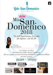 Soverato – Domenica 26 Agosto torna Miss San Domenico