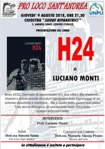 Sant'Andrea Jonio – Giovedì 9 agosto presentazione del nuovo romanzo distopico di Luciano Monti