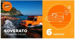 Oggi a Soverato l'Aperol Spritz con l'arrivo del Bar Anfibio