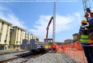 La nuova storia della Ferrovia Jonica inizia da Corigliano: avviata l'elettrificazione