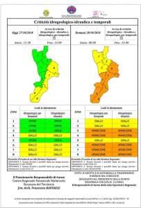 Torna il maltempo in Calabria, pesante allerta della Protezione Civile. Rischio nubifragi