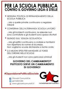 """Giovani Comunisti. """"Domani sarà una giornata di mobilitazione nazionale degli studenti"""""""
