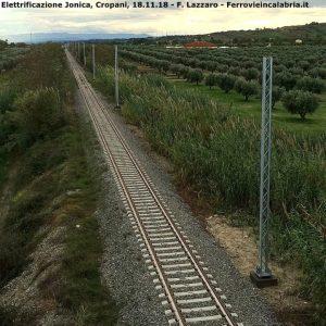 Ferrovia Jonica – Procedono i lavori di elettrificazione