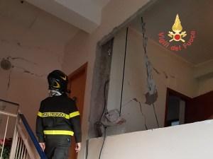 Terremoto – Vigili del Fuoco di Catanzaro in azione a Zafferana Etnea