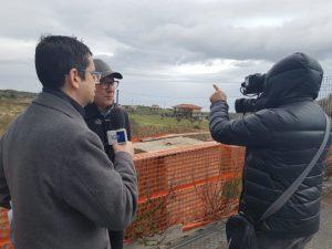 Le telecamere Rai sono tornate sui cantieri della Trasversale delle Serre