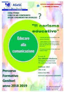 AGeSC Soverato: Presso l'Istituto Salesiano parte la formazione genitori