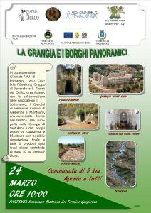 """Domenica 24 Marzo camminata di 5 Km """"La Grangia e i borghi panoramici"""""""