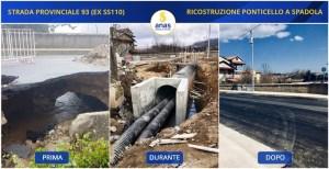 Anas: terminati i lavori di ricostruzione del ponticello lungo la SP 93 a Spadola