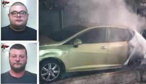 Montepaone – Incendiano auto per estorcere denaro, due arresti