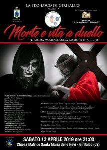 Girifalco – Sabato 13 Aprile un dramma musicale sulla passione di Cristo