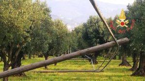 Per rubare rame tagliati sei pali della Telecom