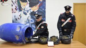 Nascondeva 3 Kg di marijuana in un bidone, 40enne arrestato