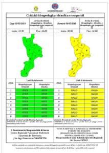 Allerta meteo della Protezione civile per la Calabria, previsti venti forti e temporali isolati