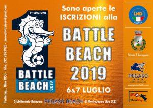 """Il 6 e 7 Luglio a Montepaone Lido la """"Battle Beach 2019"""""""