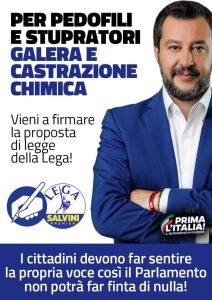 Il 4 e 5 maggio in provincia di Catanzaro raccolta firme della Lega per Salvini Premier