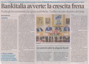 La Calabria va malissimo, secondo Banca d'Italia