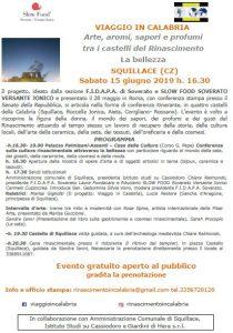 """Squillace – Sabato 15 giugno il tour del """"Viaggio in Calabria: arte, sapori…"""""""