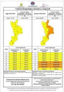 Pesante allerta meteo per la Calabria Jonica, in arrivo piogge e temporali