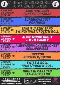 """""""Friday Summer Night Live Music 2019"""": spazio alla musica dal vivo tutti i venerdì sera a Soverato"""