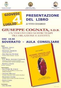 """Oggi a Soverato la presentazione del libro """"Giuseppe Cognata"""" di Vito Cesareo"""