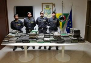 Sequestrati 270 Kg di cocaina in un container del Guatemala, avrebbe fruttato 55 milioni di euro