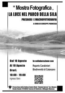 """Taverna – Dal 10 al 18 Agosto la mostra fotografica """"La luce nel Parco della Sila"""""""