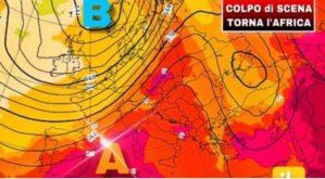 Breve tregua, da lunedì nuovo boom di caldo africano. Temperature sopra i 40 gradi!