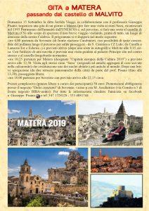 Gita da Soverato al castello di Malvito e a Matera