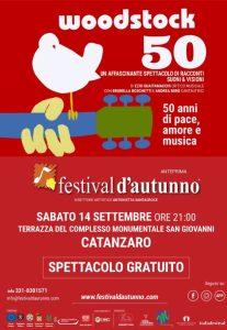 Al Festival d'Autunno il tributo a Woodstock con Ezio Guaitamacchi, Brunella Boschetti e Andrea Mirò