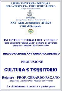 Soverato – Venerdì 11 Ottobre Inaugurazione del XXV Anno Accademico Università della Terza Età