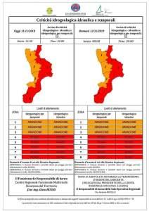 """Maltempo – Pesantissimo avviso della Protezione civile, è allerta meteo """"Rosso"""" per la Calabria Jonica"""