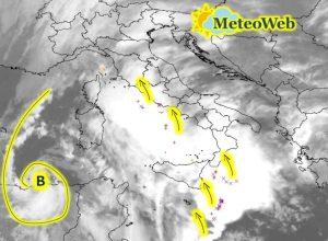 """Allerta Meteo – """"Ciclone Mediterraneo"""", situazione esplosiva: si prospetta una nottata terribile"""