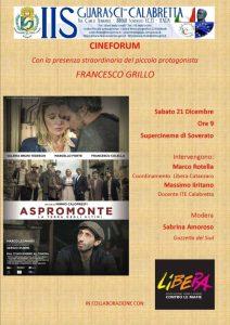 """Soverato – Sabato 21 Dicembre cineforum con """"Aspromonte"""""""