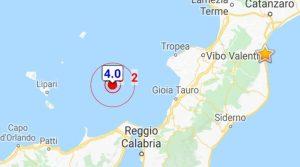 Forte scossa di terremoto sulla costa tirrenica calabrese