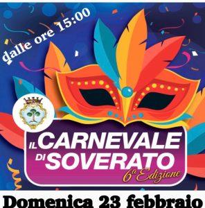 Domenica 23 Febbraio la sesta edizione del Carnevale di Soverato
