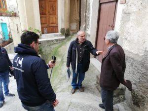 """La troupe televisiva dell'emittente """"LaC"""" a Badolato per delle riprese speciali"""