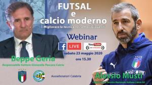 Il commissario tecnico della nazionale italiana Calcio A5 Alessio Musti al webinar Aiac Calabria