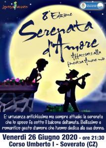 """Soverato – Venerdì 26 Giugno l'ottava edizione di """"Serenata d'Amore"""""""