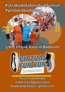 """Prima edizione della """"StraBadolato Virtual Fun Run"""""""