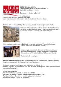 Domenica 11 Ottobre da Soverato escursione in Bovesia
