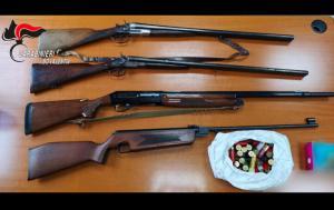 Arma clandestina nascosta nel fienile, arrestati padre e figlio