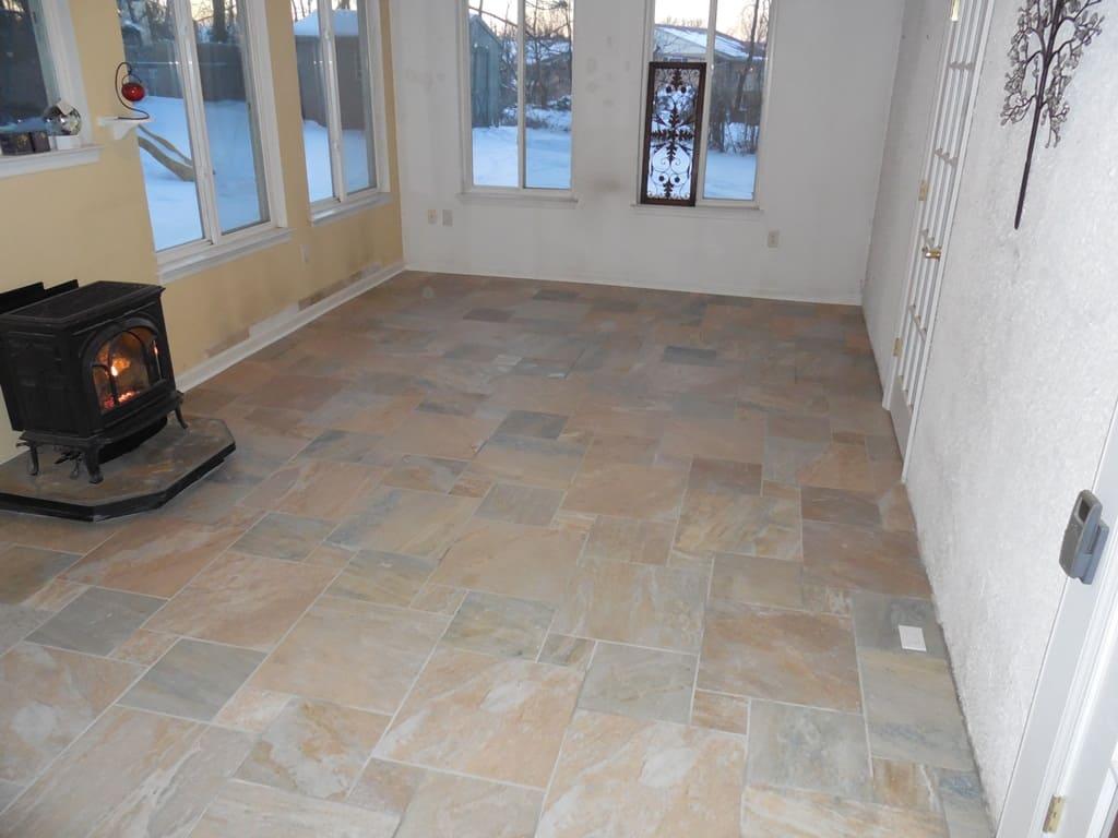 sunroom multi piece tile pattern