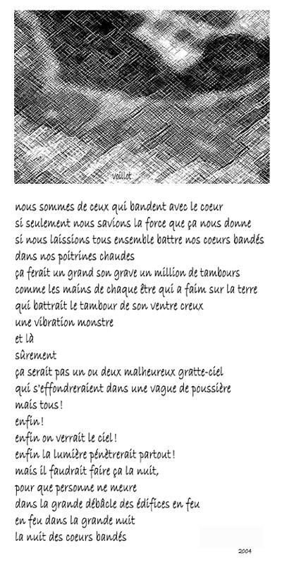 Cœur bandé, photopoème de Sophie Voillot paru dans Steak haché