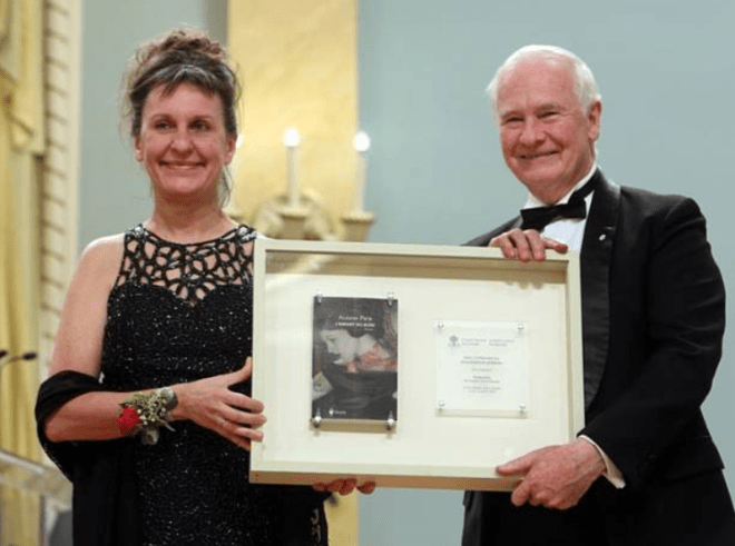 Sophie Voillot receives her third Governor General's Literary Translation Award in 2013.