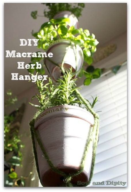 Macrame Herb Hanger