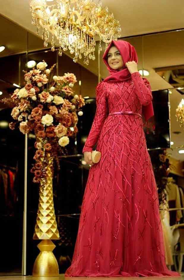 صور أزياء محجبات للسهرة متنوعة